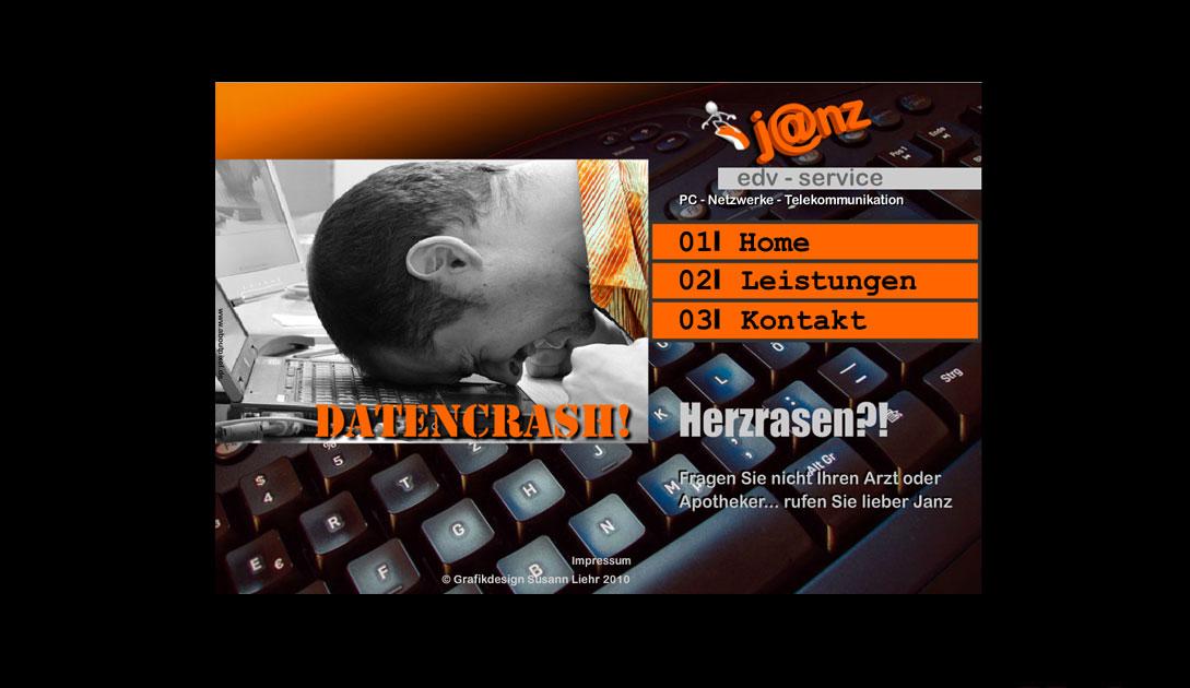 Janz EDV Service, Erscheinungsbild + Website