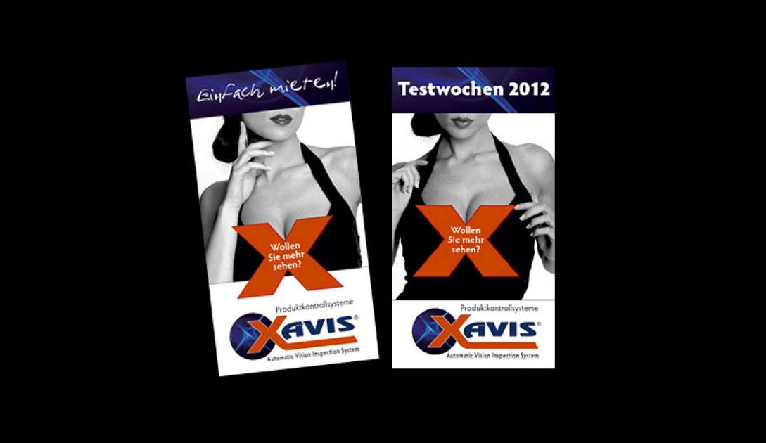 Maxi-Karte, Direct-Mailing für Xavis Germany, X-Ray Röntgenkontrollgeräte