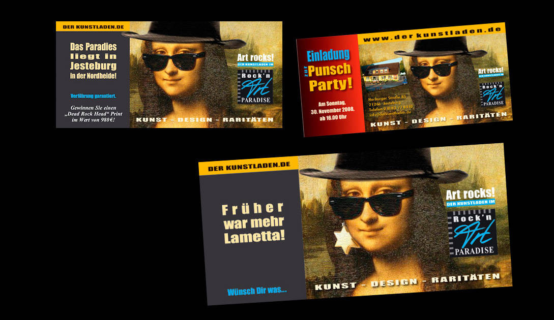 Uwe Brügmann, Rock+Art Paradise (Logo, Einladungskarten..), Umsetzung