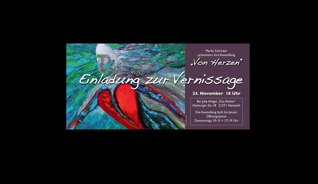 Flyer DIN-lang für Marlis Hartig, Künstlerin