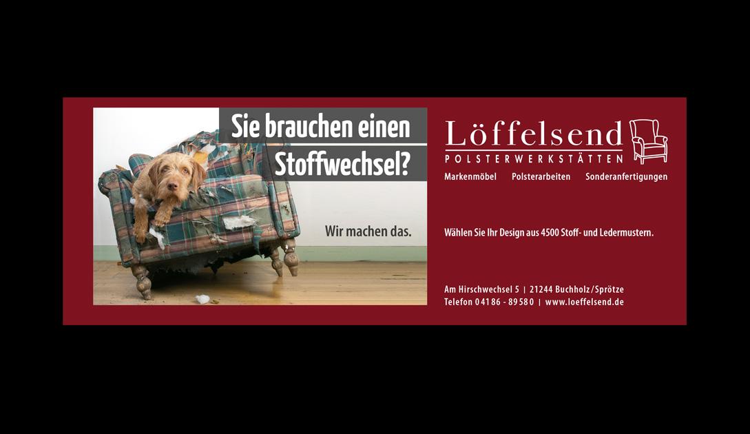 Stoffwechsel? Imageanzeige für die Firma Löffelsend, Nordheide Wochenblatt