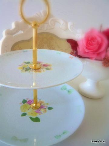 ポーセラーツ:リボンとお花のエトランジェ