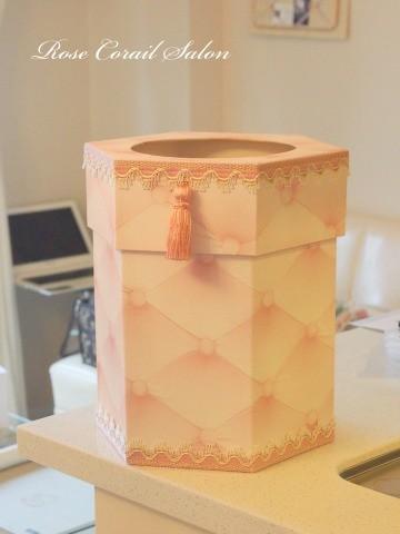 カルトナージュ:六角形ダストボックス