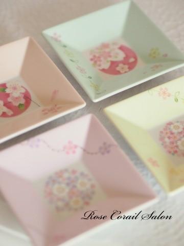 ポーセラーツ:桜の小皿
