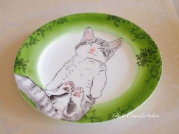 ポーセラーツ:猫のプレート