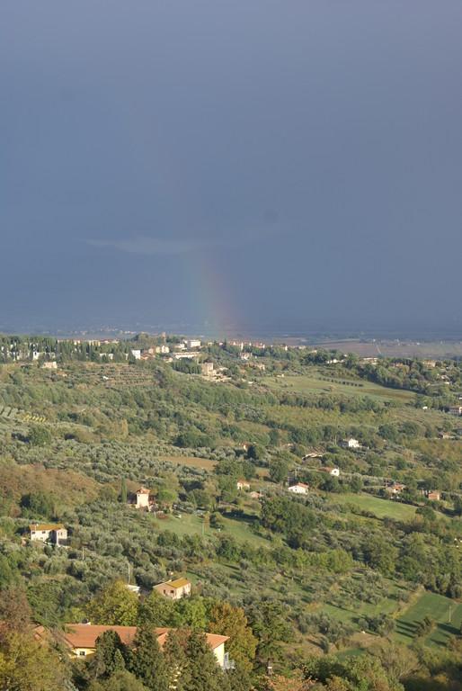 Arc-en-ciel , vu depuis Pérouse