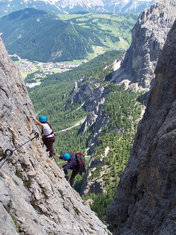 Vue sur Corvara et Val Gardena