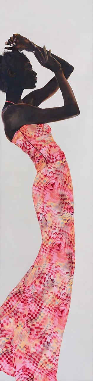 Rosa Langlang | 2018 | 200 x 50 cm | Öl/Textil auf Leinwand (verkauft)