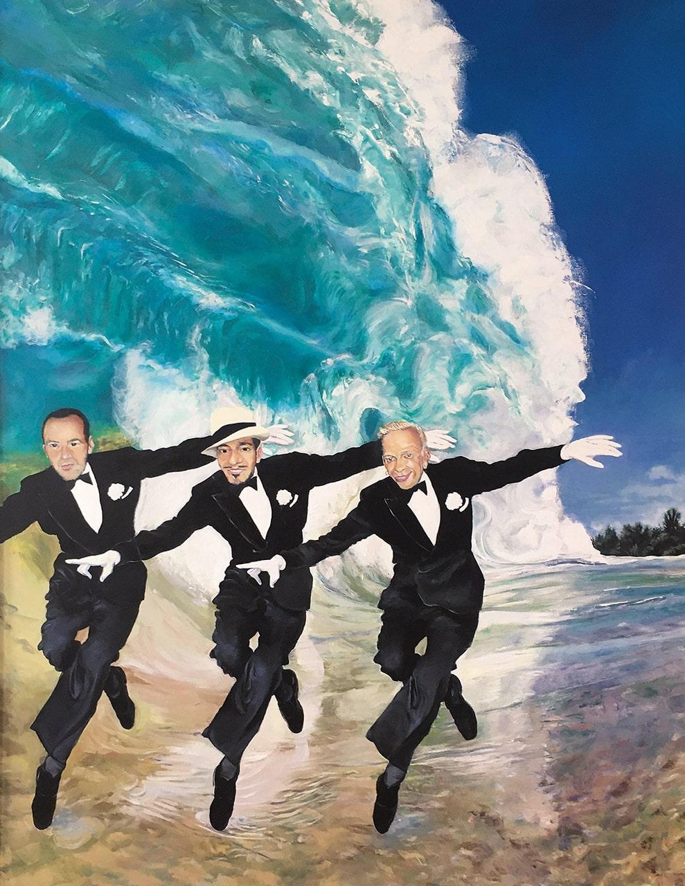 Auf der Welle des Erfolges | 2019 | 130 x 100 cm | Öl auf Leinwand