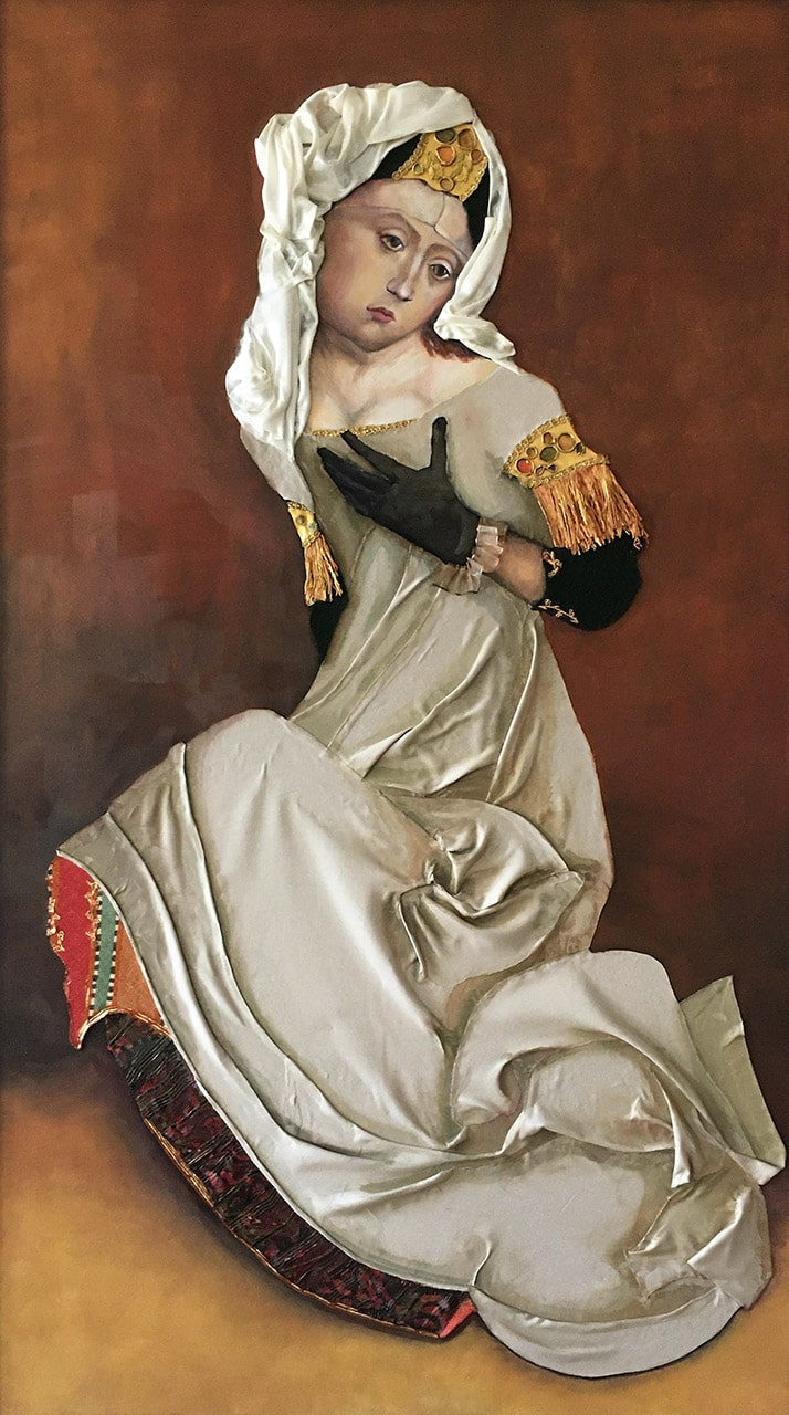 Maria Magdalena | 2020 | 125 x 70 cm | Öl/Textil auf Leinwand (verkauft)