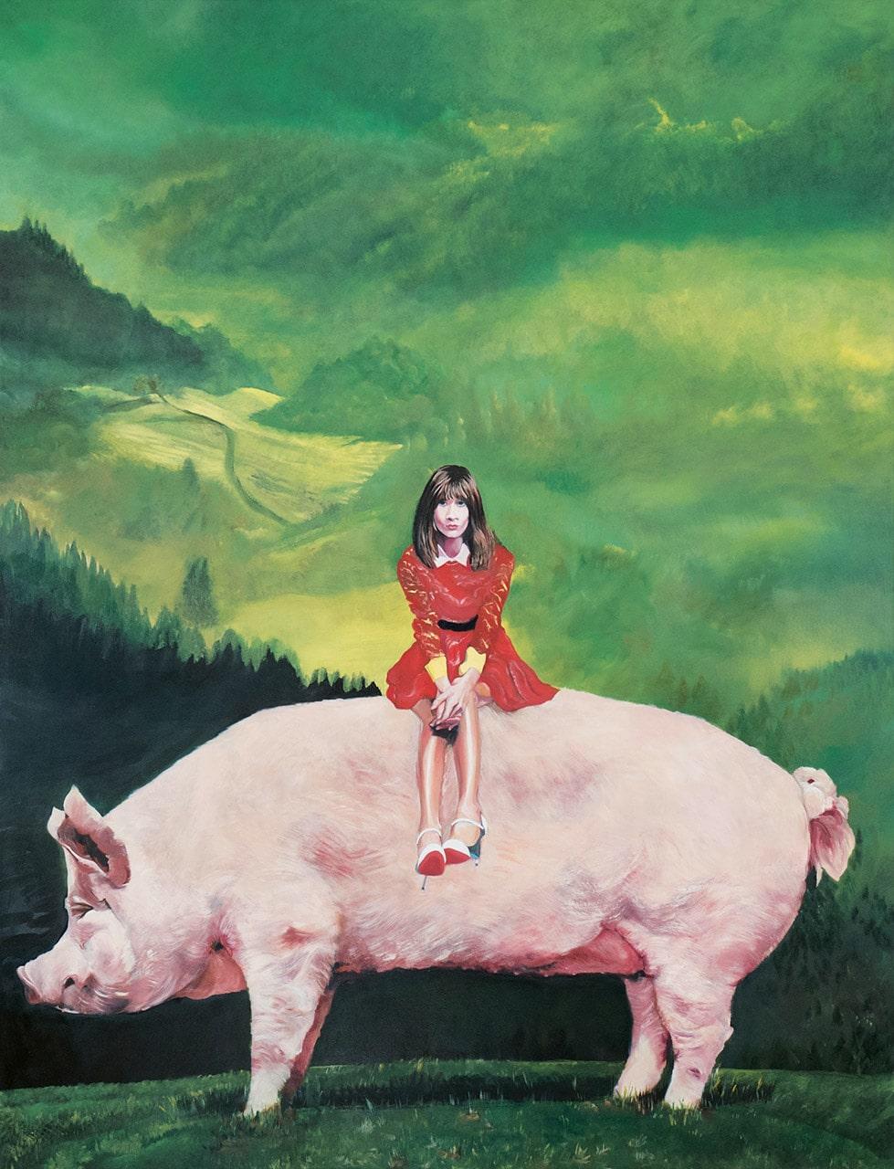 Schwein gehabt | 2017 | 130 x 100 cm | Öl  auf Leinwand