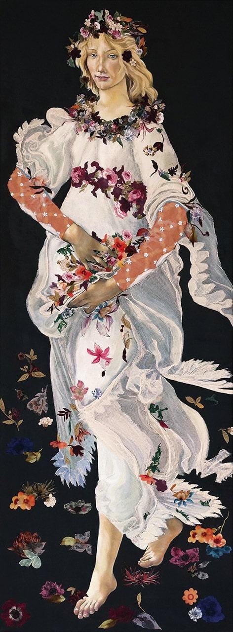 Sandros Frühling | 2019 | 175 x 65 cm | Öl/Textil auf Leinwand