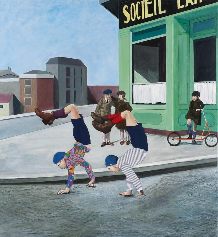 Kunst kommt von Können | 2012 | 120 x 110 cm | Öl auf Baumwolle