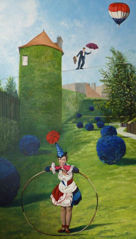 Der Privatgarten | 2015 | 170 x 100 cm | Öl auf Baumwolle