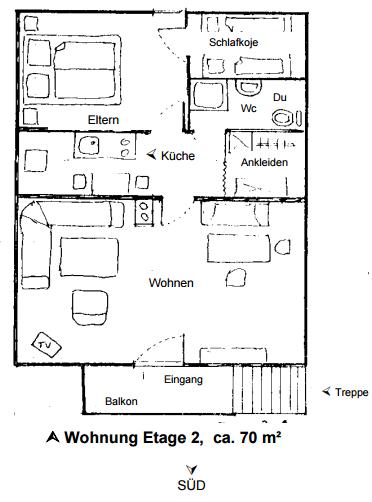 2,5 Zimmerwohnung - Haus beim Sepp
