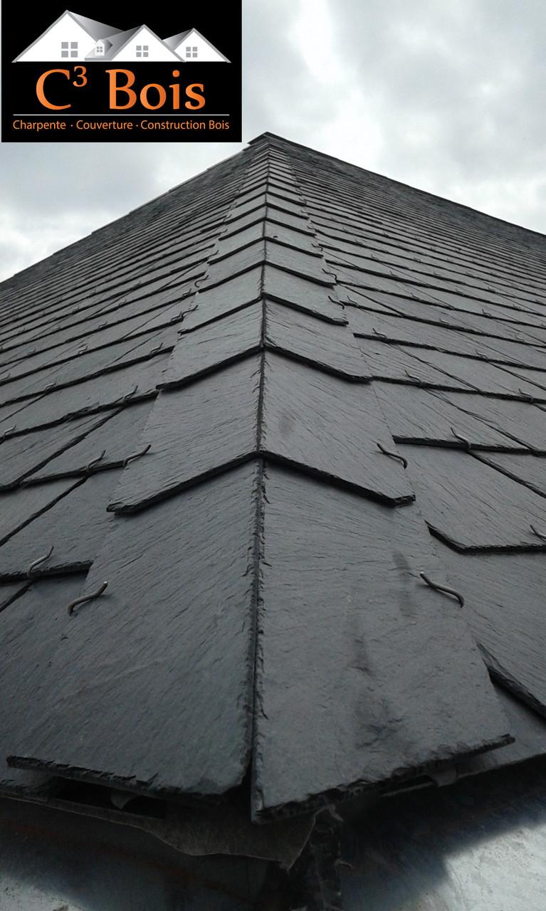 R novation d 39 une toiture de 1863 somz e c bois for Guide de pose ardoise
