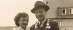 Königspaar 1954 Heinrich Claus und Edeltraud Heß