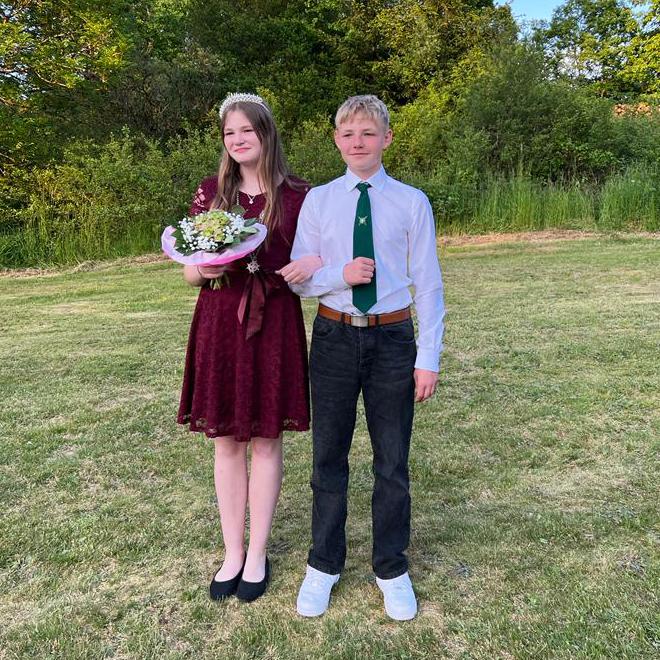 Jugenkönigspaar 2017 Nick Lichtblau und Chiara Günther