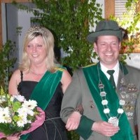 Vogelschießen Haftal Thomas Lichtblau und Christiane Schmitt