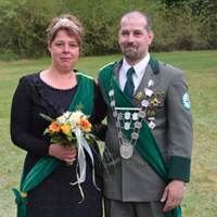Vogelschießen 2016 Haftal Mario Kulfanek und Nicole Günther