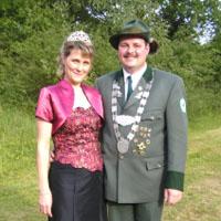 Kreiskönigspaar Gino Huft und Heidi Huft