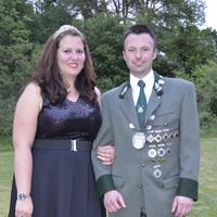 Königspaar 2019 Thomas Briel und Tanja Hoffmann