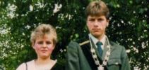Jugendkönigspaar 1985 Carsten Kurp und Birgit Briel