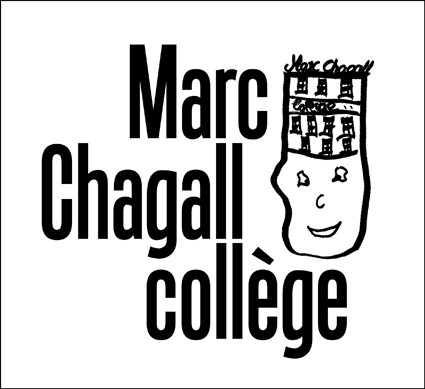 Logo Collège Marc Chagall (Gasny-27) avec la collaboration de S. Jolivet et des collégiens
