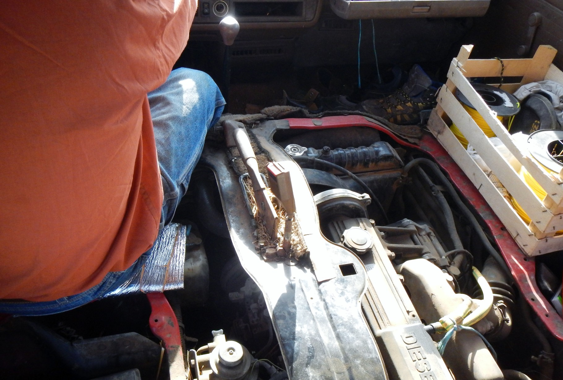 Motor offen ohne Sitze !?