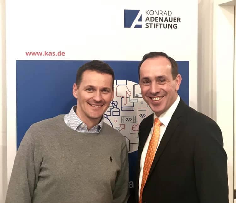 Gemeinsam mit Ingo Senftleben bei der Büroeröffnung der KAS Potsdam