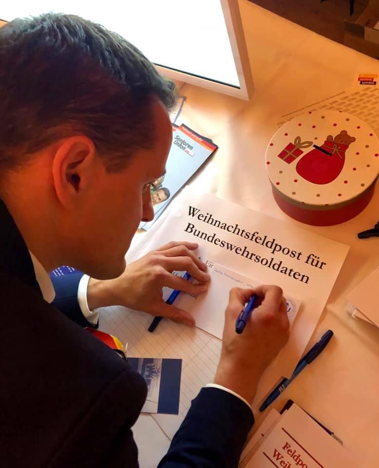 Weihnachtsfeldpost-Aktion der JU Brandenburg