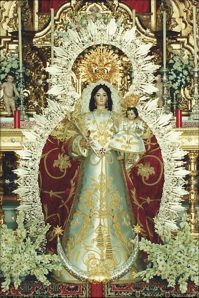 Procesión de la Virgen de la Estrella (Patrona de Chucena). Día 15 de Agosto.
