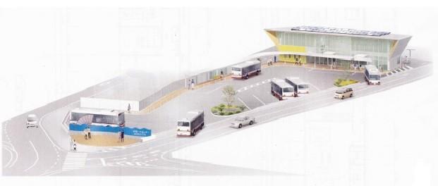 新しい井原バスセンターイメージ図