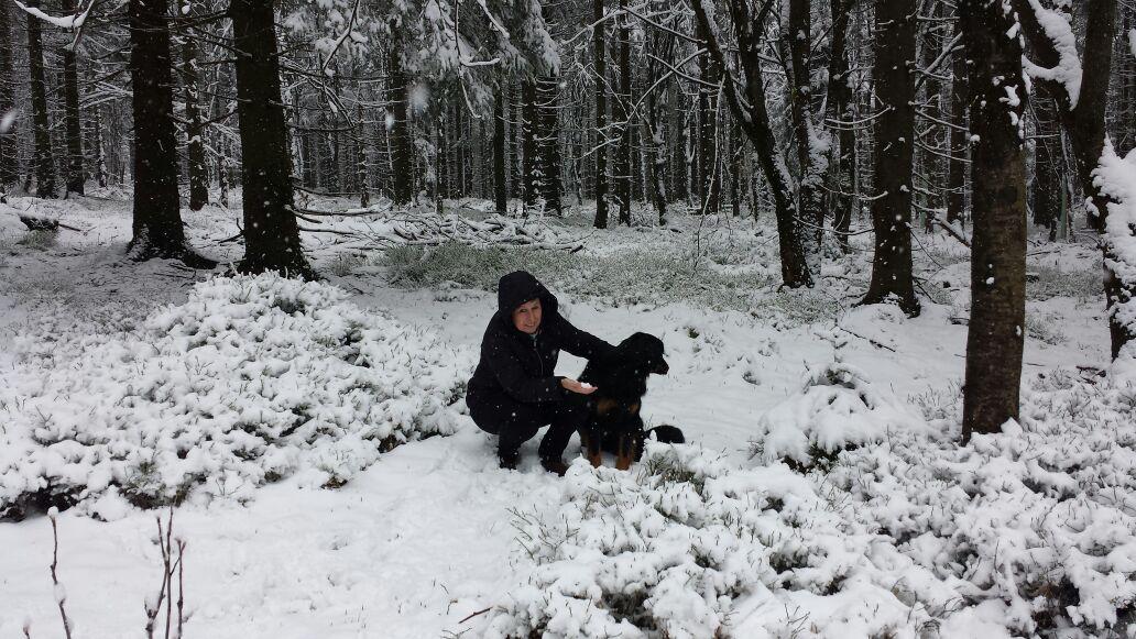 bei Cora im Thüringer Wald ist der Winter zurück im April