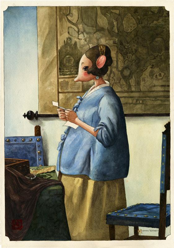 En visite chez l'ami Vermeer