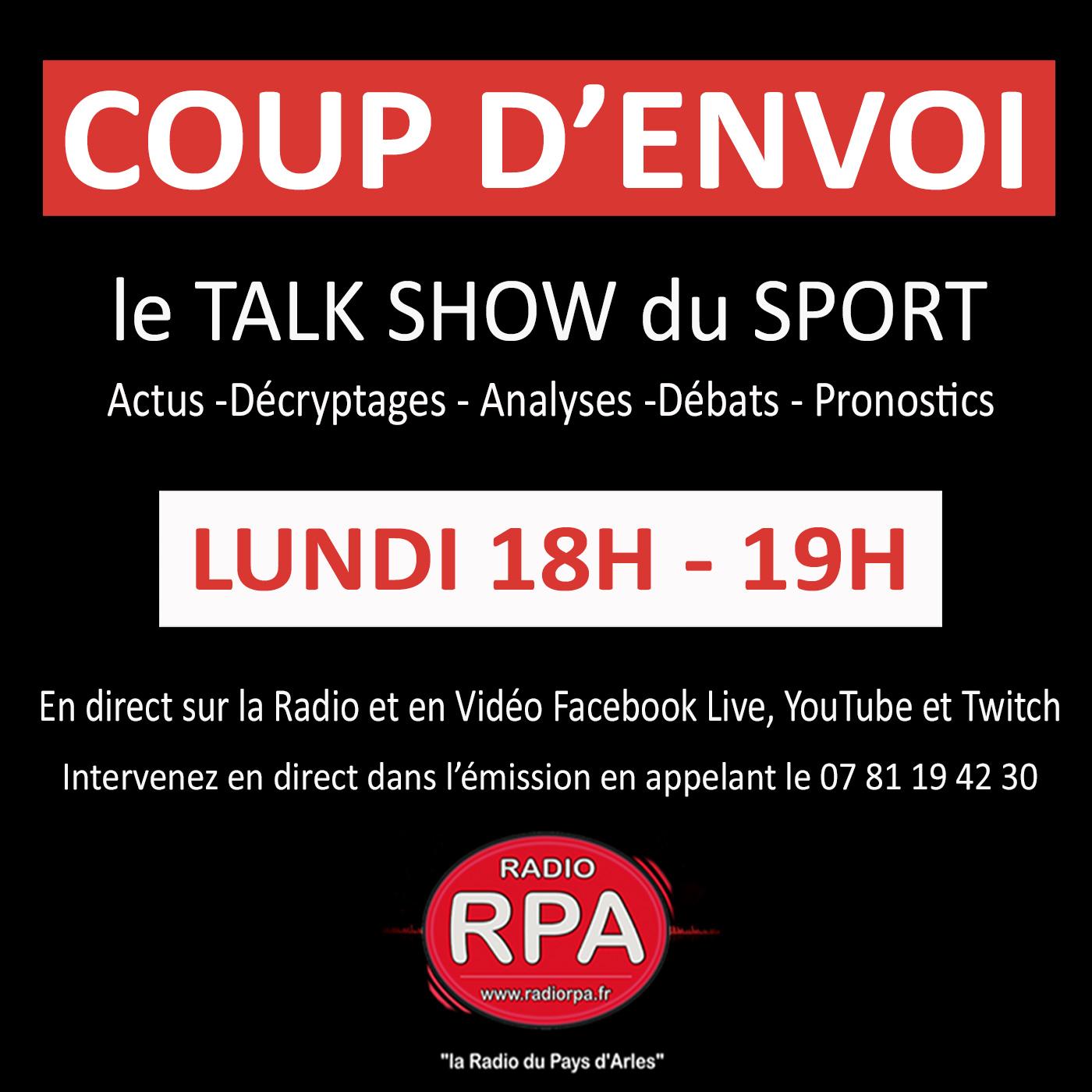 Coup D'envoi - le Talk-Show du Sport (29-03-2021)