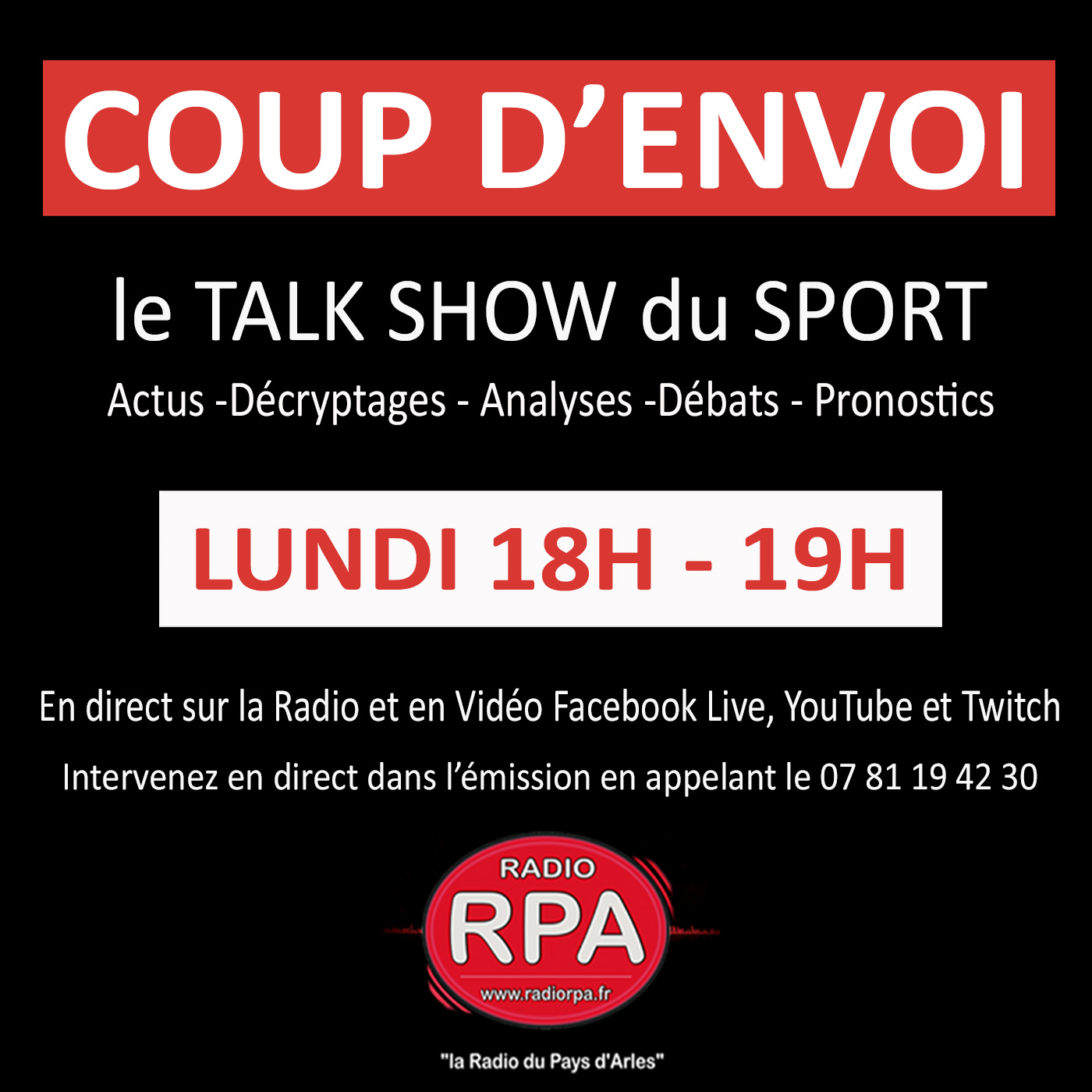 Coup D'envoi - le Talk-Show du Sport (25-01-2021)