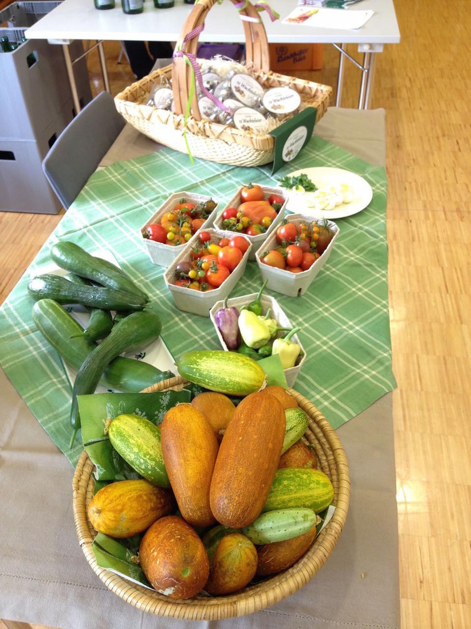 Frisches Gemüse aus dem Bauerngarten