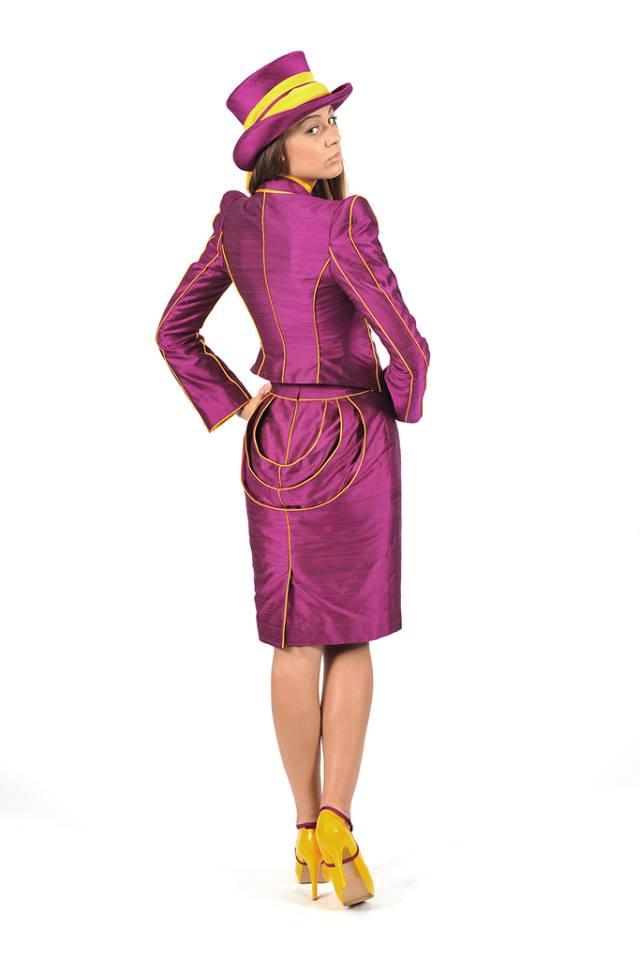 """Preisträgermodel von Karin P.Couture  """"Wien Couture Preis 2013/2014"""" """"Wiener Blut – von Johann Strauss bis Falco"""""""