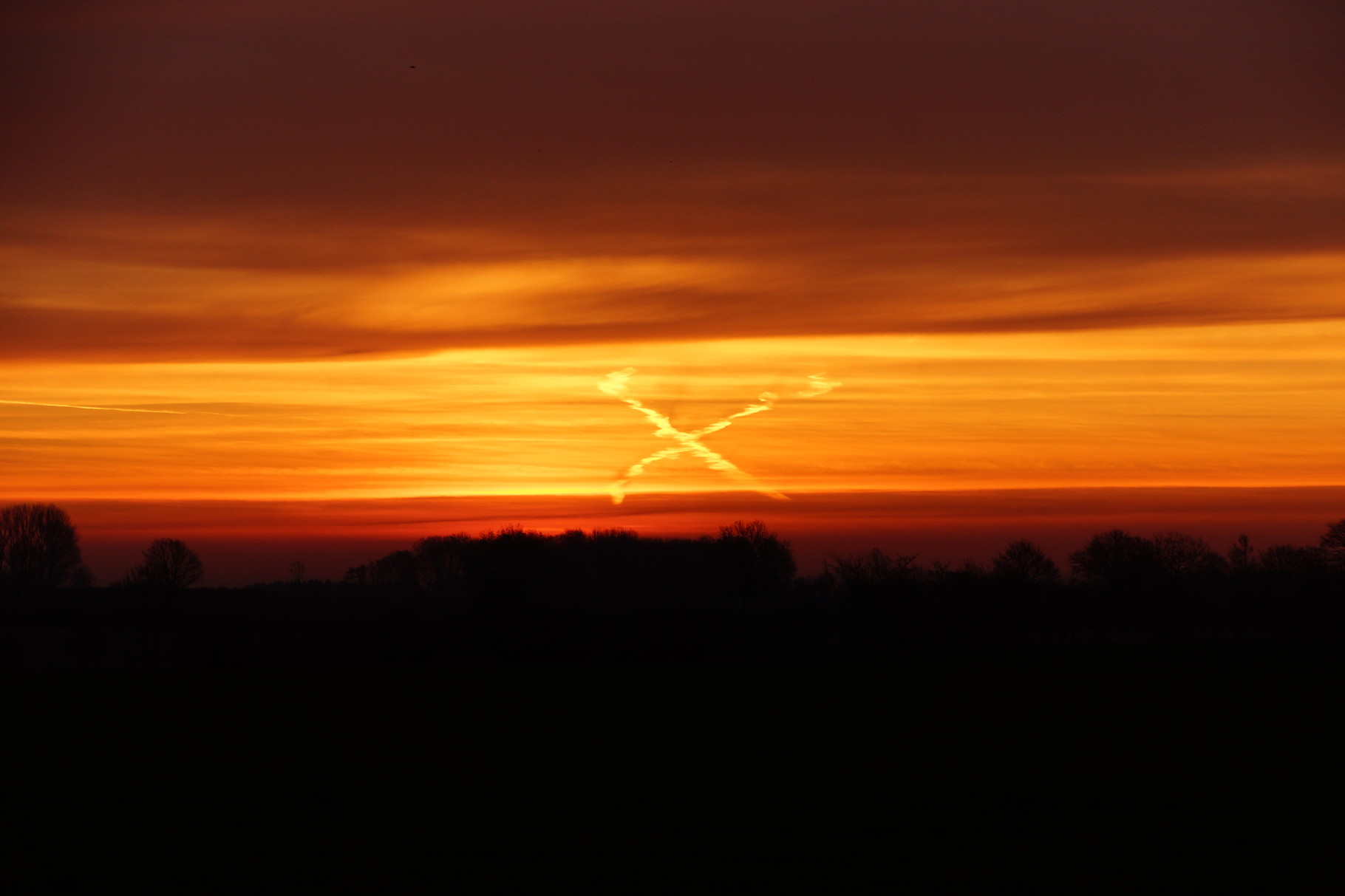 Der Sonnenaufgang am Ostersonntag.