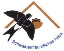 """Plakette """"Schwalbenfreundliches Haus"""""""