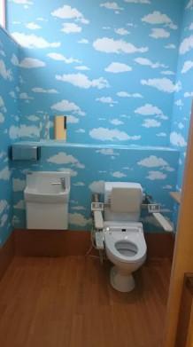 トイレがユニークです!