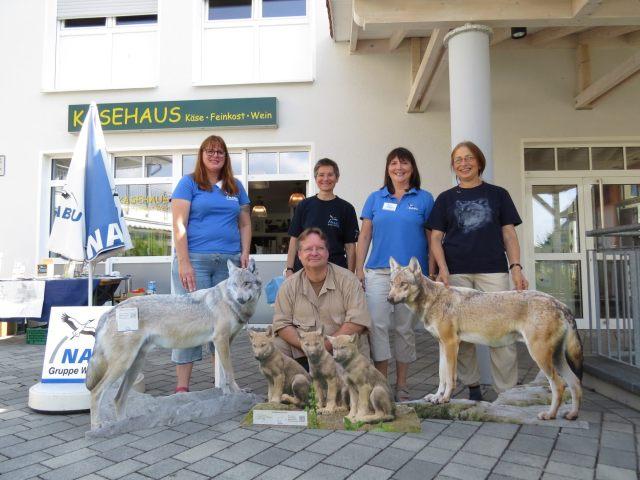 Das Team am Infostand: Ingeborg Till, Jutta Pfetzing, Sybille Winkelhaus, Andrea Pfäfflin und Uwe Müller; Foto: Tatjana Seibt