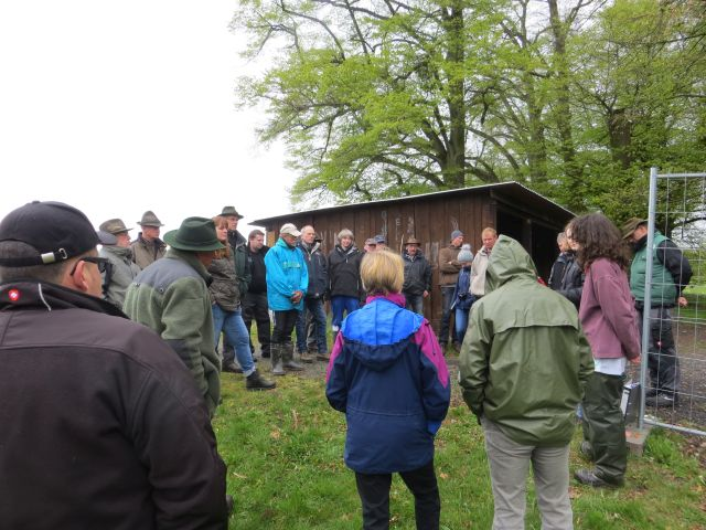 Begrüßung der Teilnehmer durch Planwerk Nidda und Isa Rössner (LAG Wolf). Foto: Wolfgang Weber