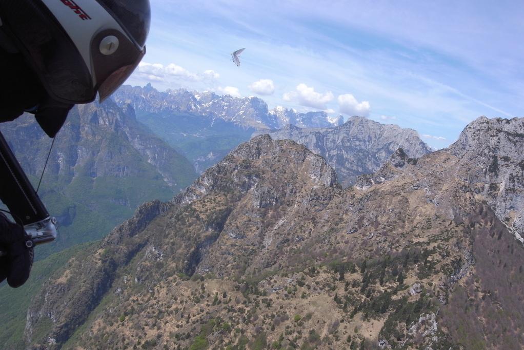 Berge beim Lago del Mis mit Alex