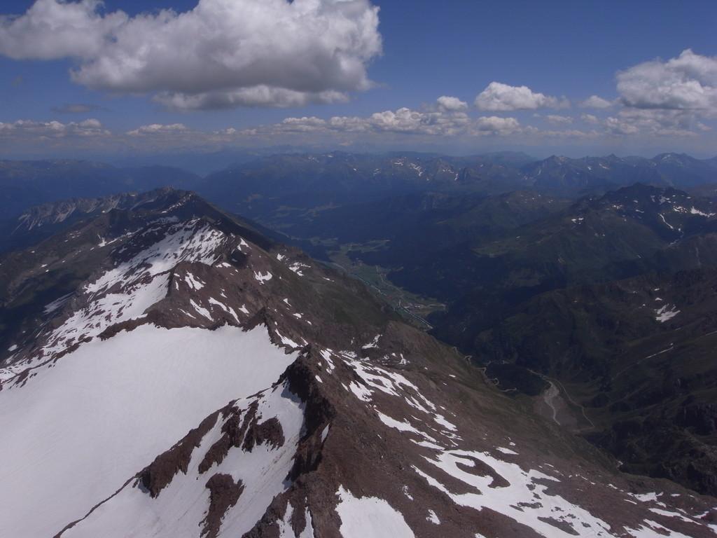 vom Gletscher Richtung Ridnaun