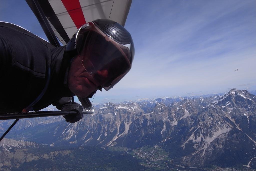 Vom Monte Pelmo im Hintergrund der Antelau, mit Alex