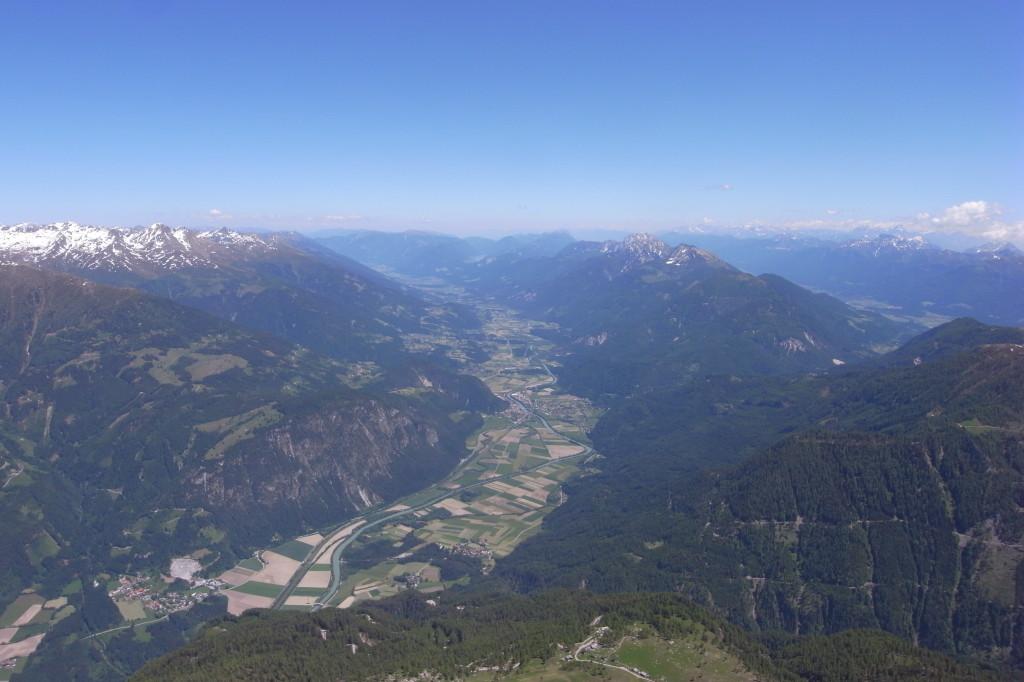 von den Lienzer Dolomiten Richtung Greifenburg