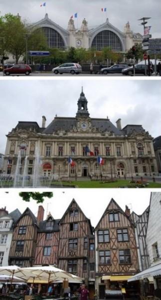 La gare conçue par l'architecte de la Gare d'Orsay de Paris   la Mairie        et la vieille ville…