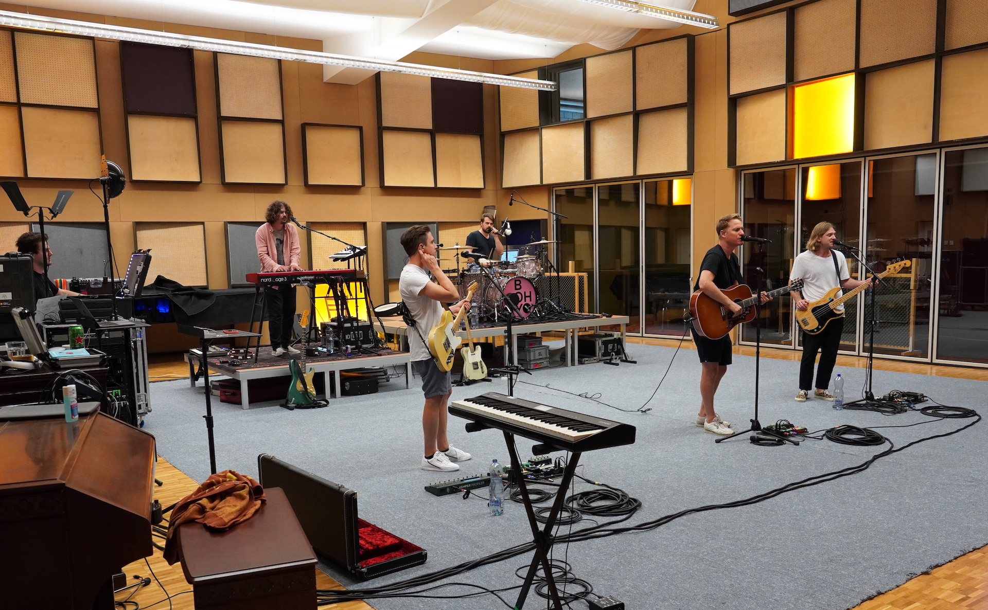 Band Hecht Probeweekend im Tonstudio Gabriel Recording